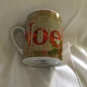 """PIER 1 Christmas Coffee MUG NOEL range RED 4.25"""""""